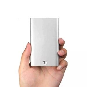 Image 5 - Novo youpin miiiw titular do cartão de aço inoxidável prata alumínio caso de cartão de crédito caso de cartão de identificação