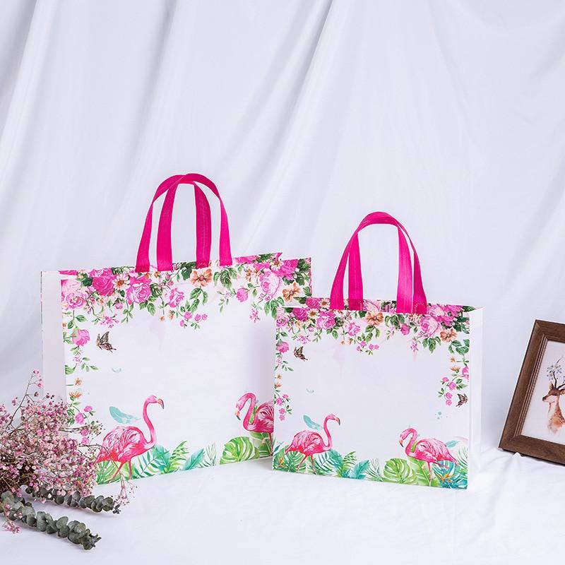 New Idyllic Flower Reusable Shopping Bag Foldable Eco Tote Bag Non-woven Fabric Shopper Bags Women Travel Grocery Shopper Bags