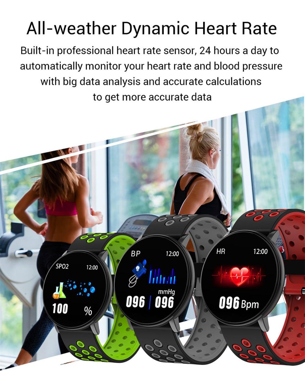 H2e1b03f89b9c4825bbe92e8309413463Q Smart Fitness Bracelet Blood Pressure Measurement Fitness Tracker Waterproof IP67 Smart Band Watch Heart Rate Monitor Pedometer