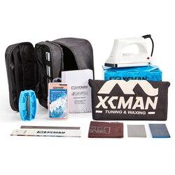 XCMAN esquí Snowboard Kit completo de encerado y sintonización bolsa de almacenamiento para viajar y almacenar herramientas bolsa con cremallera con plancha de encerado
