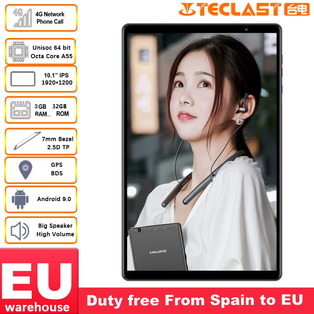 Teclast P10HD 10.1 inch 4G phone Tablets 1920×1200 Android 9.0 Tablet PC 3GB RAM 32GB ROM SC9863A Octa Core GPS