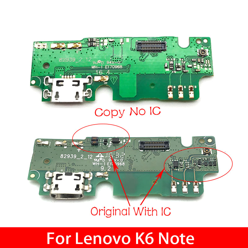 Original New For Lenovo K6 Note K6Note K53a48 USB Dock Connector Charging Port Flex Cable With Microphone Replacement