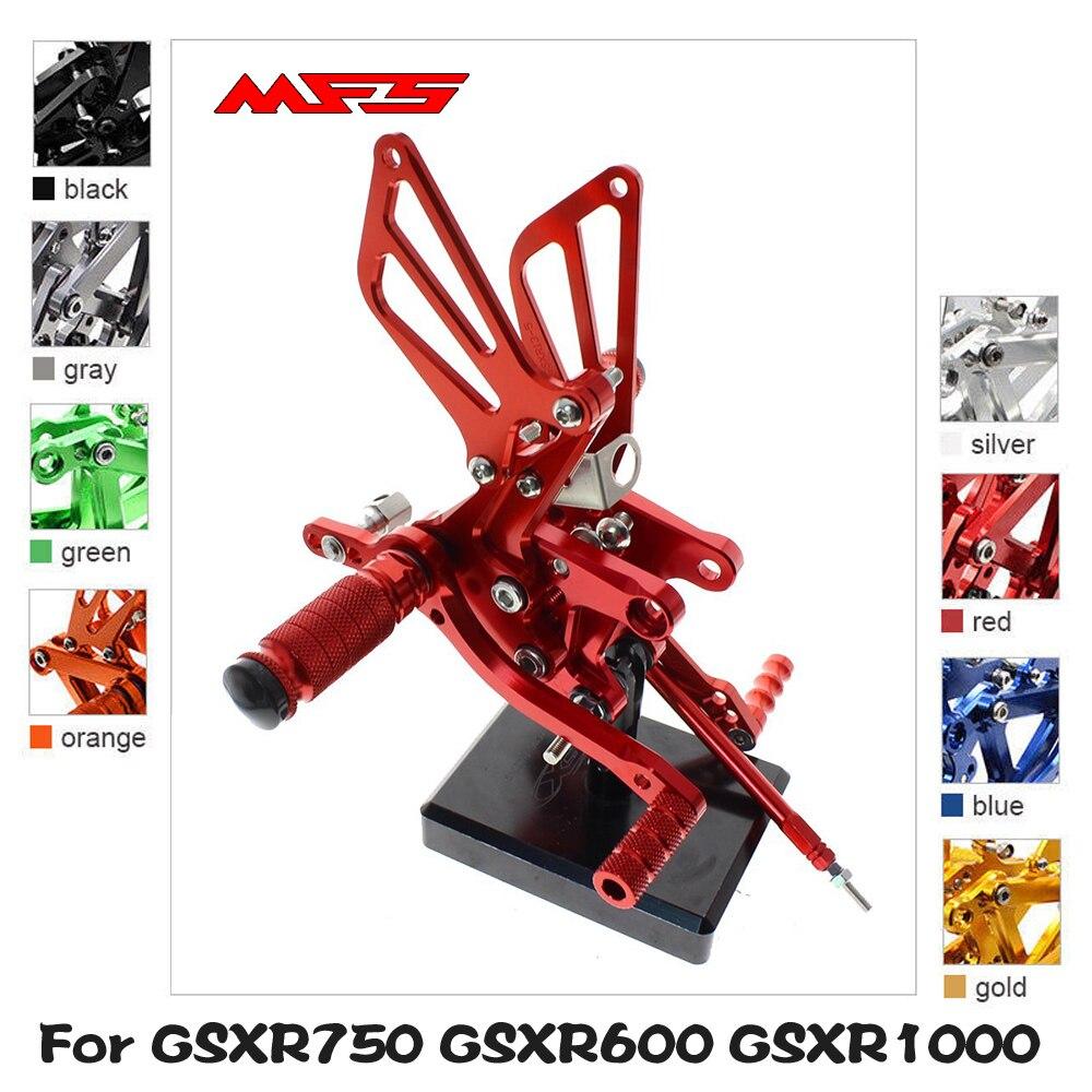 CNC Adjustable Rear MPRO Foot Pegs Fit Suzuki SV650S GSR 600 750 GSX650F