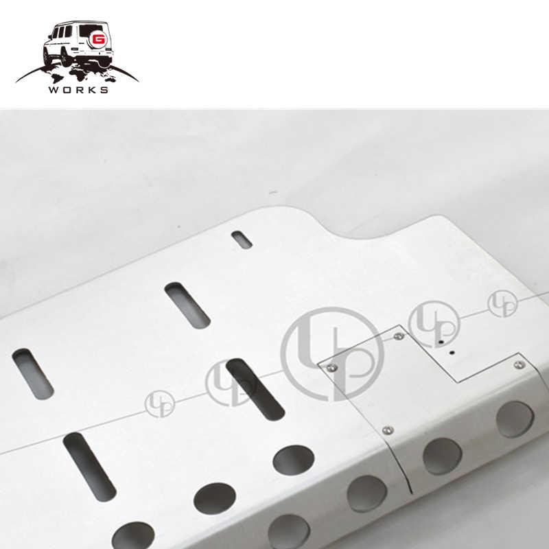 Plaque de protection avant G class w463 pour G63 G65 G500 G55 plaque de protection de pare-chocs avant en acier inoxydable 90-18y inadaptée 350D 16y