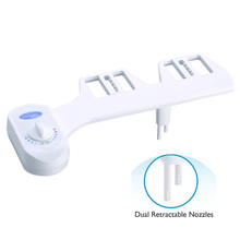 Non-Electric Bidet Attachment Toilet Seat Self-Cleaning Nozzle Sprayer Mechanical new