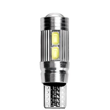 T10 10 SMD 5630 LED Projector Lens Auto Clearance Lights 5730 10SMD Car Parking 501 LED Canbus Bulb W5W 1pc Marker Lamp O9D0 image