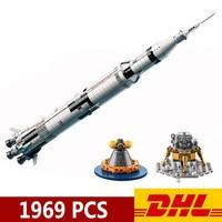 USA Rocket The Apollo Saturn V Launch Vehicle Leping 80013 37003 1969Pcs Building Blocks Kits Bricks Children Christmas Present