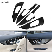 4PCS/set Car Interio Door Panel Handle Pull Trim Cover Sticker For Nissan X-trail X trail T32 2017 2018 2019 Accessories