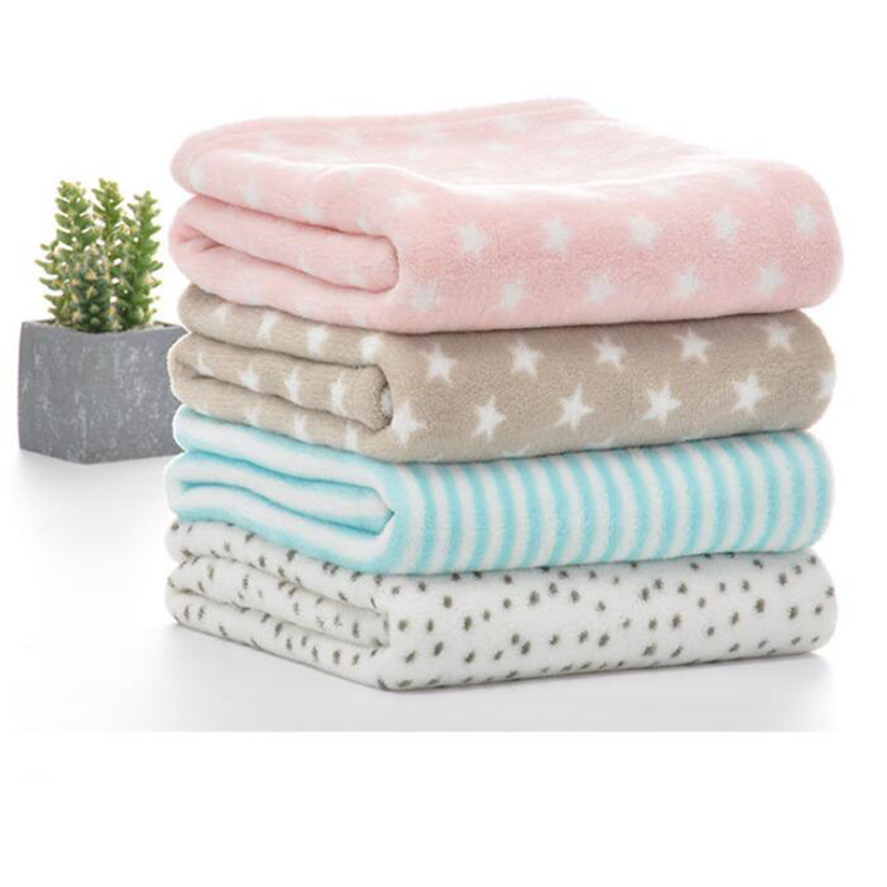 100*80cm Baby Blankets Newborn Cartoon Soft Comfortable Blanket Coral Fleece Manta Bebe Swaddle Wrap Bedding Set