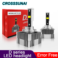 Error Free D3S D2S D1S D2R LED Canbus D4S D4R No Error Light Lights Lamp Car LED Headlight Bulbs 45W 5000LM 6000K 12V 24V