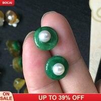925 sterling silver nail hypoallergenic earrings handmade pearl fashion earrings