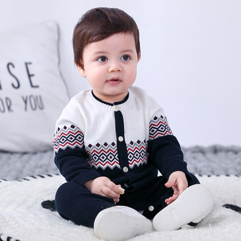 Baby Rompers Knitted Jumpsuit Sweater Infant Clothing Newborn Boy Clothes Spring Autumn Romper Baby Girls Clothes christmas baby clothes autumn winter knitted baby deer romper newborn romper infant jumpsuit toddler girl romper