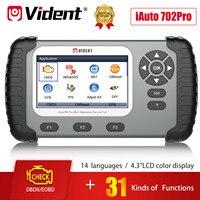 VIDENT-ماسح ضوئي للسيارات ، أداة تشخيص السيارة ، ABS ، SRS ، DPF ، إعادة ضبط الزيت ، TPMS ، SAS ، BRT ، Gear ، OBD2 ، iAuto702 Pro 702Pro