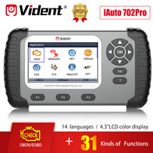 VIDENT iAuto702 Pro 702Pro OBD2 Automotive Scanner ABS SRS DPF Oil Reset TPMS SAS Injector BRT Gear Learning Car Diagnostic Tool