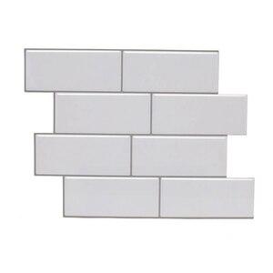 Vividtiles толще пилинг и палка Премиум настенная плитка белый дизайн метро для ванной комнаты Душ кухня Backsplash - 5 штук в упаковке