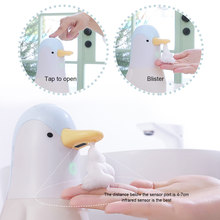 Distributeur automatique de savon mousse désinfectant, pingouin mignon, sans contact, équipement de salle de bain pour enfants, outil de lavage