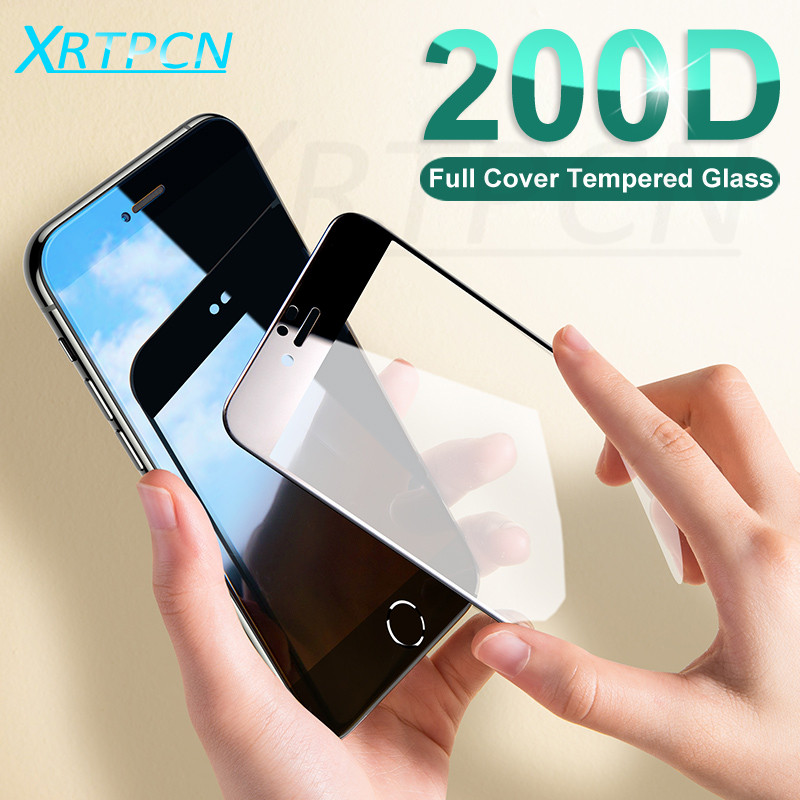 200D Full Cover Tempered Glass For IPhone 7 6 6S 8 Plus X Xs Glass Screen Protector For IPhone 11 Pro XS Max XR 7 8 Glass Film