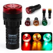 Flash led luz indicadora de alarme buzzer AD16-22SM (AD16-16SM) com luz de sinal flash led buzzer sirene com terminal de parafuso