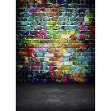 Foto backdrops graffiti tijolo parede computador impresso fundos para crianças bebê animais de estimação retrato photophone fotografia adereços