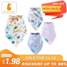 Kangarouse Cotton Bandana Bibs Baby Babador Infant Burp Cloths  Saliva Towel Baby Eating Accessory