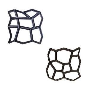 2020 г., форма для создания дорожек, многоразовая форма для бетона, цемента, дизайна каменной плитки, форма для бетона, форма для создания садовых дорожек