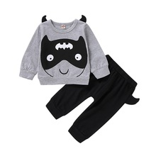 Kids fashion boys 2019 Clothing Set Baby Boys clothes sets Cartoon Tops Pullover Pants Halloween christmas boutique clothing D20