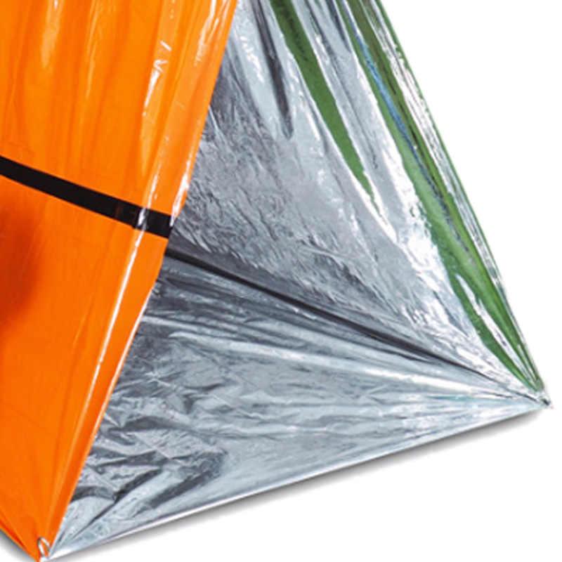 แบบพกพากันน้ำอลูมิเนียมฟอยล์สีผ้าห่มฉุกเฉิน Windproof First Aid Survival กู้ภัยผ้าม่าน Camp เต็นท์