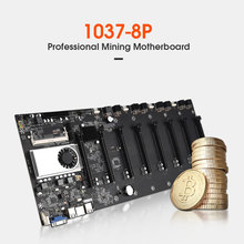 Placa base de minería sin aros, 8 GPU, Bitcoin, Crypto, Etherum, compatible con 1066/1333/1600MHz