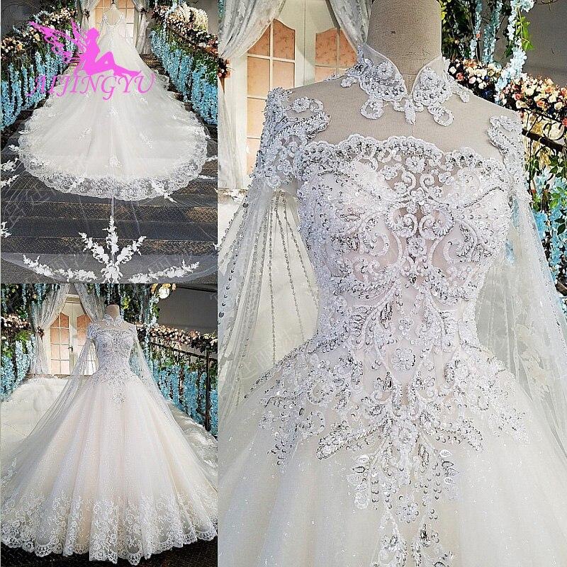 AIJINGYU 2018 Wedding Dresses Indian Gowns Transparent Ball Plus Size Bridals Sale Original Sexy Stores Muslim Wedding Dress