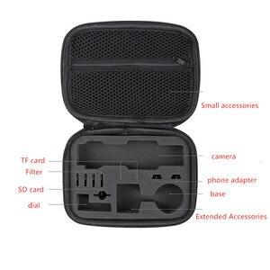 Image 3 - storage bag Osmo pocket Portable case PU waterproof  Shock absorber bag filter Spare parts box for dji osmo pocket camera