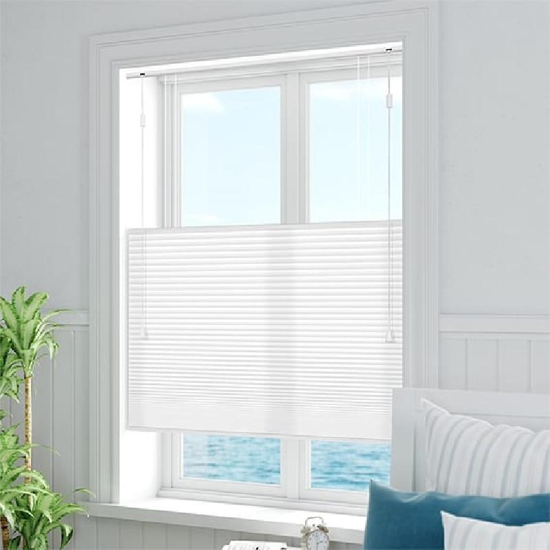 O favo de mel persianas celulares janela cortinas plissadas (parte inferior para baixo para cima) mecanismo do cabo feito-à-medida manual ou elétrico