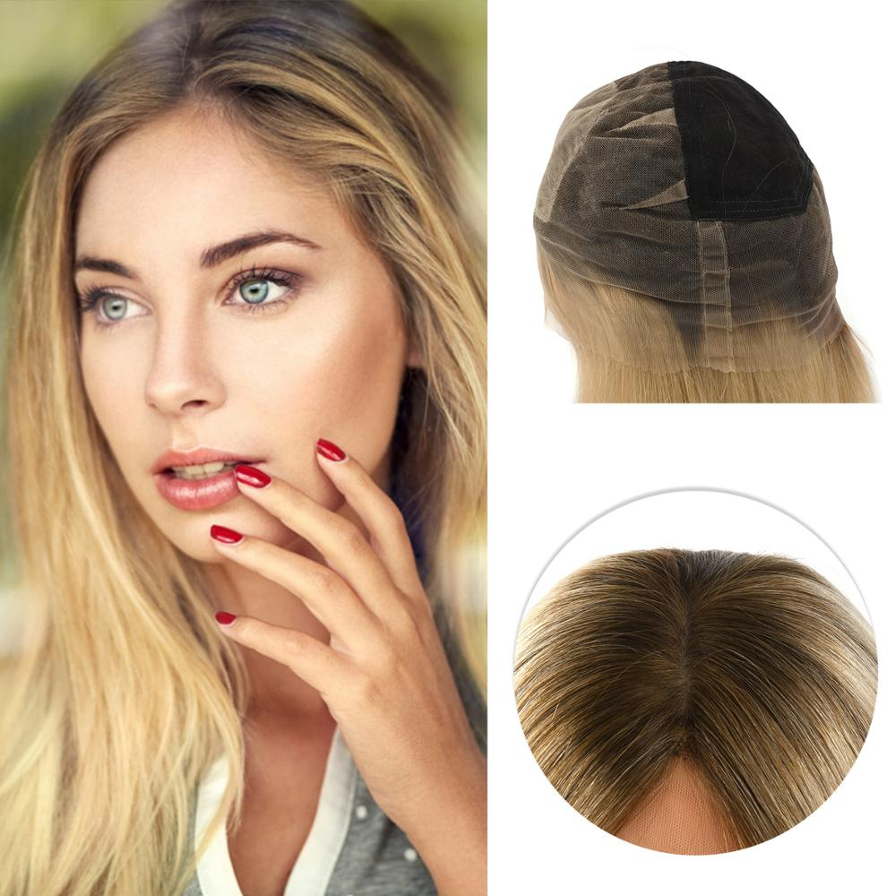 Neitsi Silk Base Remy Human Hair HD Transparent Lace Frontal Wigs Natural Straight Pre Plucked Hairline With Baby Hair 18'' 45cm