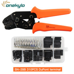 SN-28B 310pcs crimping plier for 2.54mm Dupont Crimp Pin Conector Pin Header Wire Jumper and Male Female Crimp Pins tool Kit