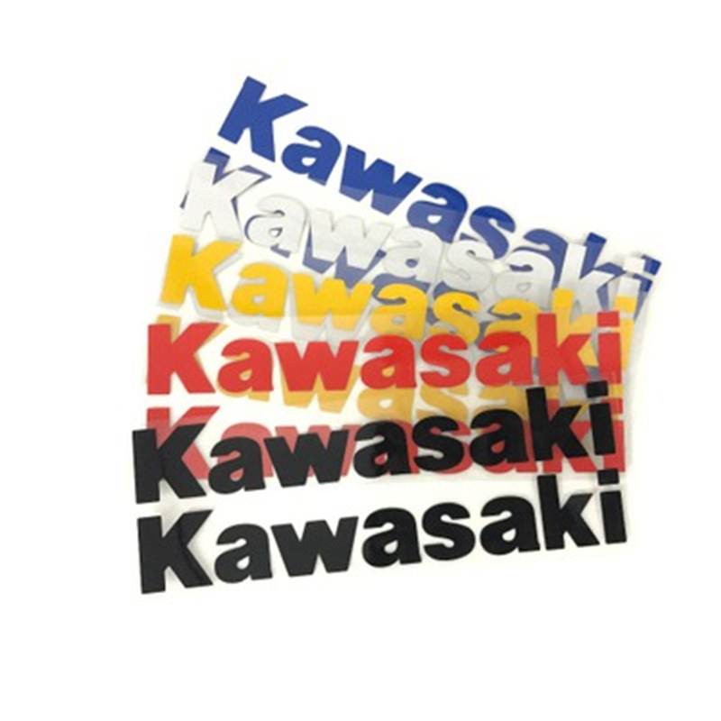 2 Pcs/set Motorcycle Refit Sticker Motorcycle Logo Personalized Decorative Reflective Decals For Kawasaki Motorcycle