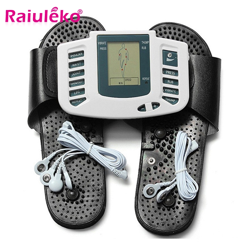 Electric Massager Stimulator Full Body Relax Muscle Therapy Massage Machine Pulse Tens Acupuncture Electrode Pads Body Massager