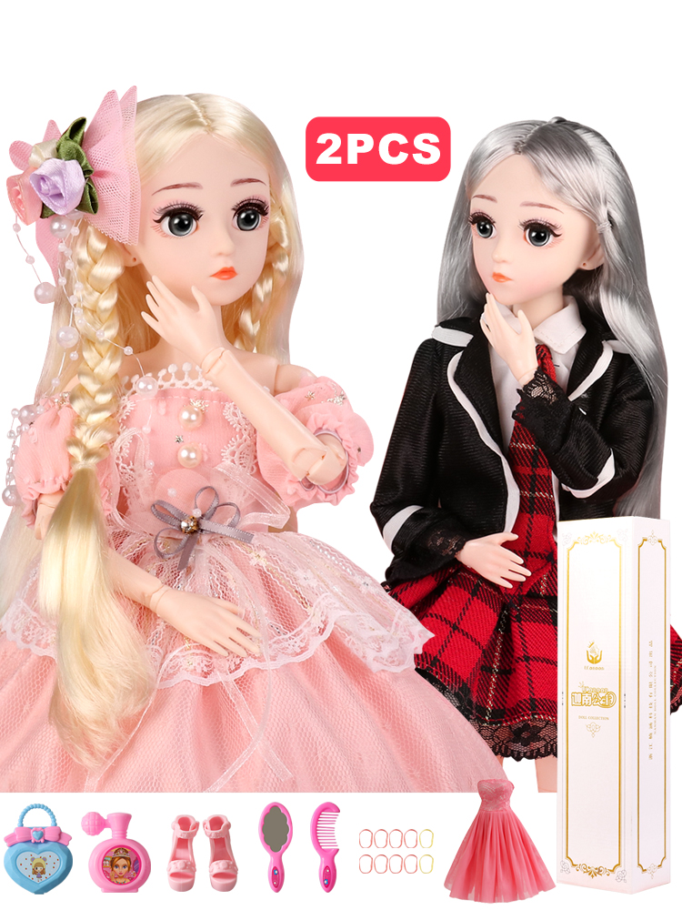 Dolls Jointed Wig-Hair Shoes Makeup Girls Best-Gift GET with Outfit for Buy-1 1/4 18-Ball