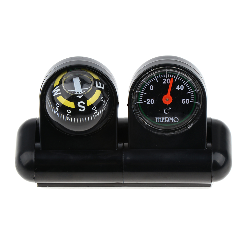 2 In 1 Car Dashboard Navigation Compass Thermometer Boat Direction Guide