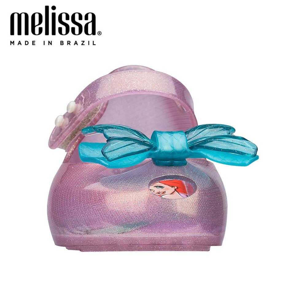 Mini Melissa Ultragirl + Little Mermaid Girl Jelly Schoenen Sandalen 2020 Nieuwe Baby Schoenen Zachte Melissa Sandalen Voor Kinderen Non-Slip