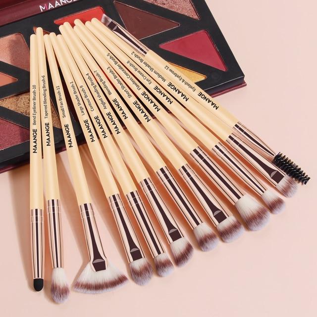 MAANGE Pro 3/5/12 PCS Makeup Brushes Set Eye Shadow Blending Eyeliner Eyelash Eyebrow Blush Make Up Brush Tools Kit Maquiagem 5