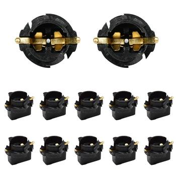YUNPICAR T10 168 194 skrętu klina Wedge Instrument tablica rozdzielcza światła żarówki podstawy gniazdo dla typ miniaturowe podstawa klinowa Bulbs10 opakowanie tanie i dobre opinie Drut miedziany