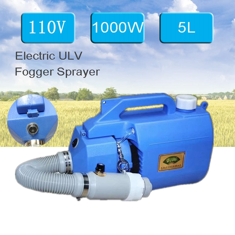 1000W 5L Electric Cold ULV Fogger Machine Ultra Capacity Sprayer Mosquito Killer Handheld Disinfection Machine US Plug 110V