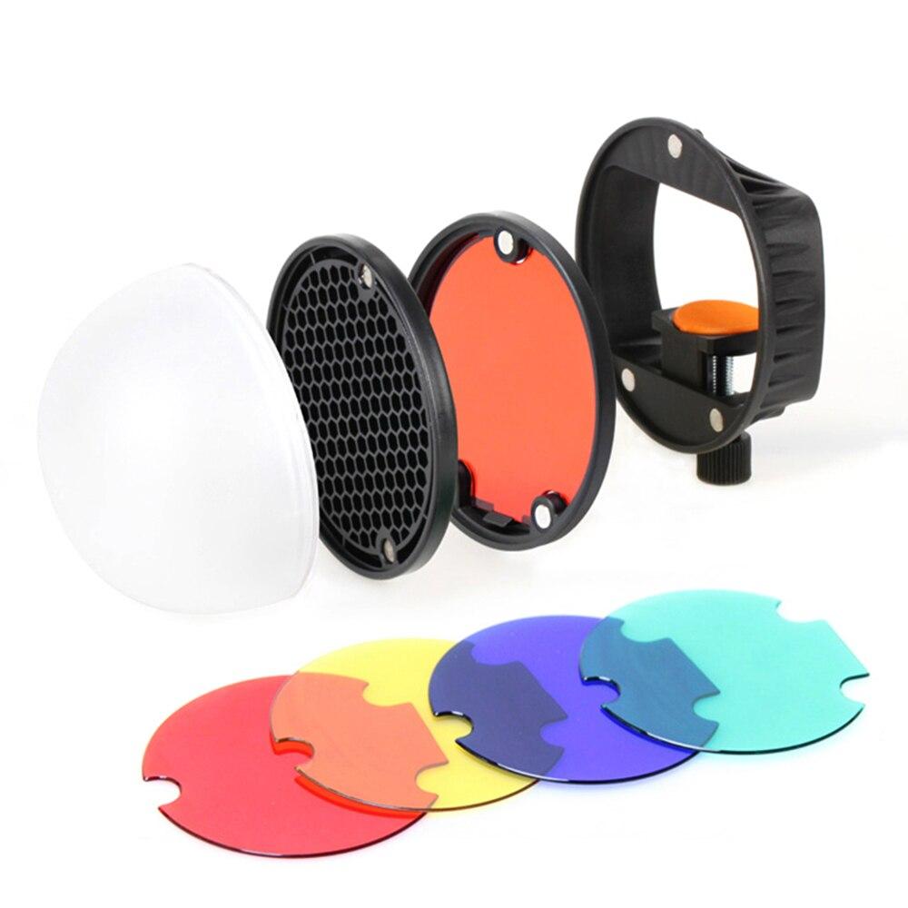 TRIOPO Speedlite Flash Light Modifier Accessories Kit Mount Adapter Diffuser Ball Reflector for Canon Nikon Sony Godox Yongnuo
