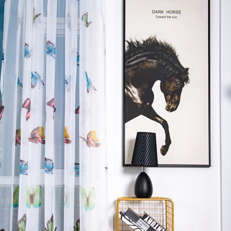 Erfly Window Print Sheer
