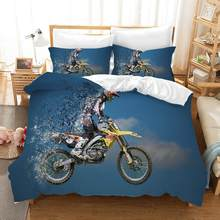 Motorcycle Bed Linens Duvet Covers Pillowcases Isle of Man TT Motocross Racing Comforter Bedding Sets Bedclothes Bed Linen(China)