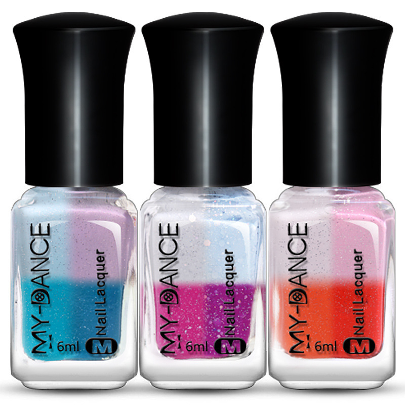 Will Change Color with Light Nail Polish Gradient Color Light Change Temperature Change Nail Decoration Nail Polish