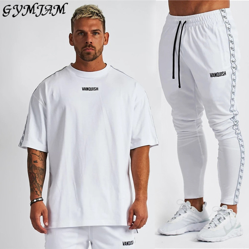 Fashion Men's Suit 2020 New Casual Fashion Streetwear Men's Clothing Jogger Fitness Brand Men's Sportswear