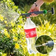 Bomba de aire portátil de plástico de alta presión, pulverizador Manual, botella de bebida ajustable, boquilla de cabezal de pulverización, herramienta de riego de jardín