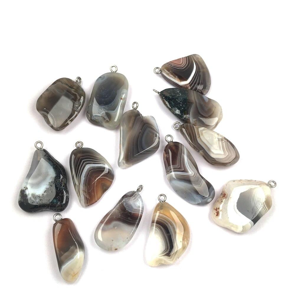 Natürliche Stein achate Anhänger unregelmäßige form Exquisite Anhänger charme für Schmuck machen DIY Halsketten Zubehör größe 20x35mm|Anhänger|   - AliExpress