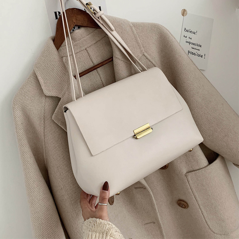 Designer 2020 Simple Luxury Messager Bags Ladies Square Flap Female Shoulder Bags For Women Solid PU Leather Casual Purses