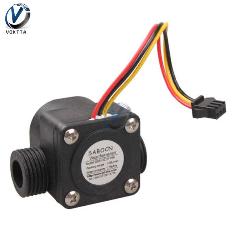 1-30L/min G1/2 4 Point Water Flow Sensor 1.75MPa Fluid Flowmeter Switch Counter Hall Control Machine Flow Meter For Water Heater